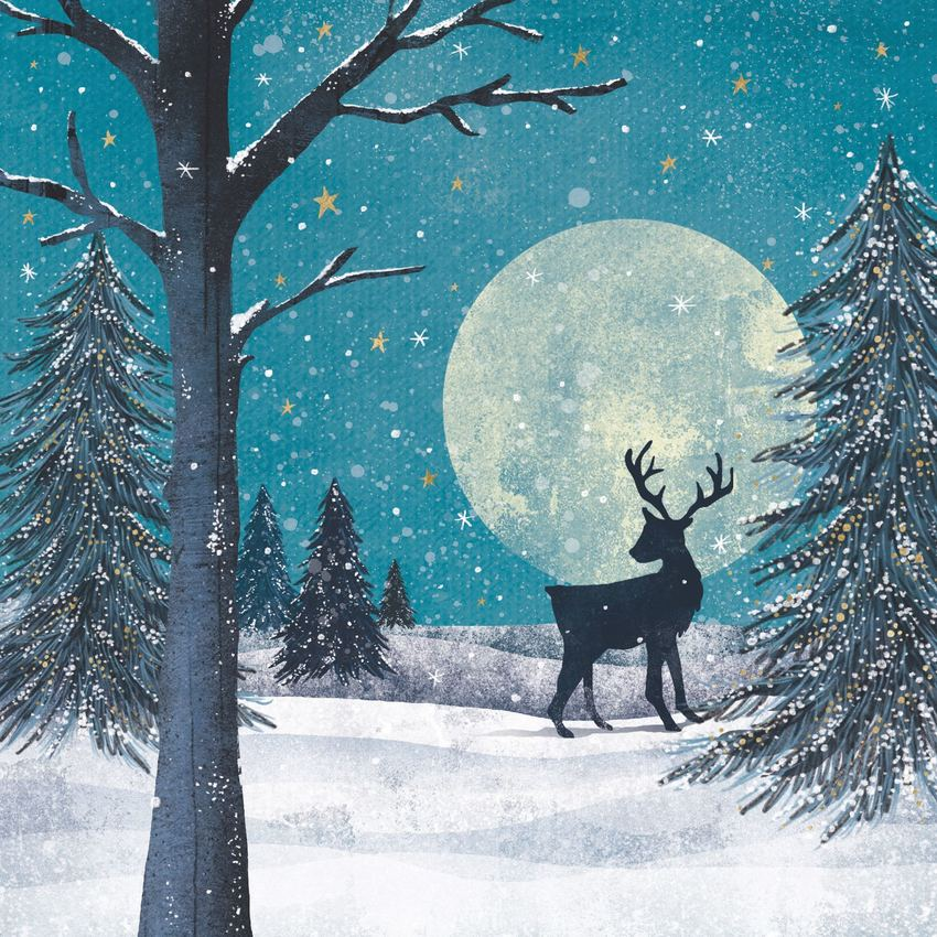 Claire McElfatrick stag in forest.jpg
