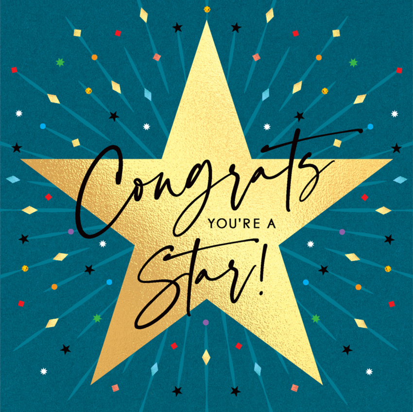 congratulations graduation unisex geometric contemporary general congrats your a star fluted raised cold gold foil.jpg