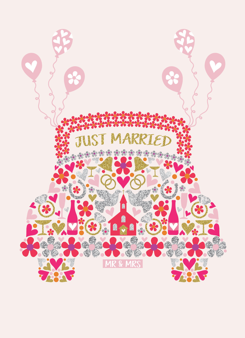 wedding car bells doves.jpg