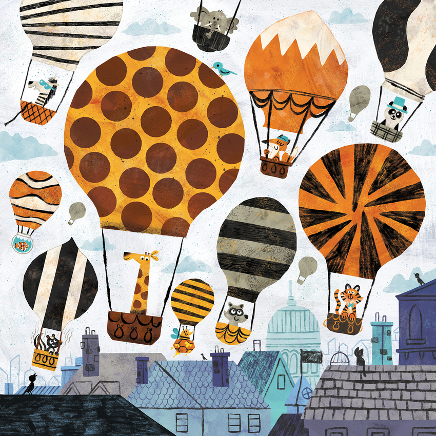 Animal_ Hot_Air_Balloon_City_House_Fox_Giraffe_Elephant_Tiger.jpg