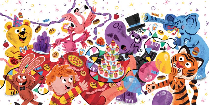Bear_Party_Animals_Hippo_Tiger_Food_Boy_Elephant_Rabbit_Flamingo_Book_Spread.jpg