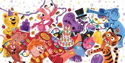 bear-party-animals-hippo-tiger-food-boy-elephant-rabbit-flamingo-book-spread-jpg