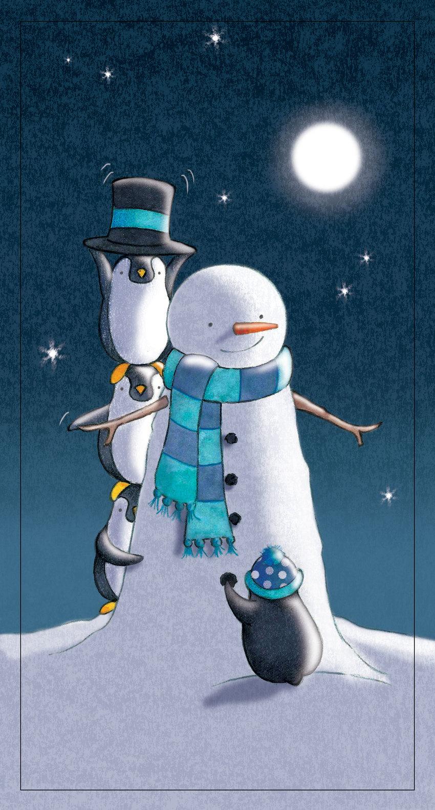 Penguins build a snowman.jpg