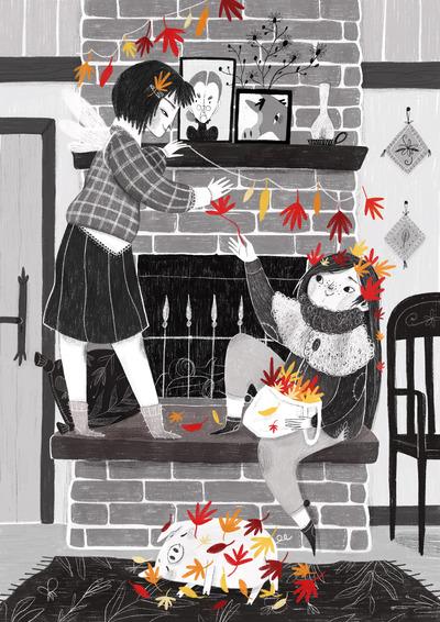 autumn-girls-pig-jpg