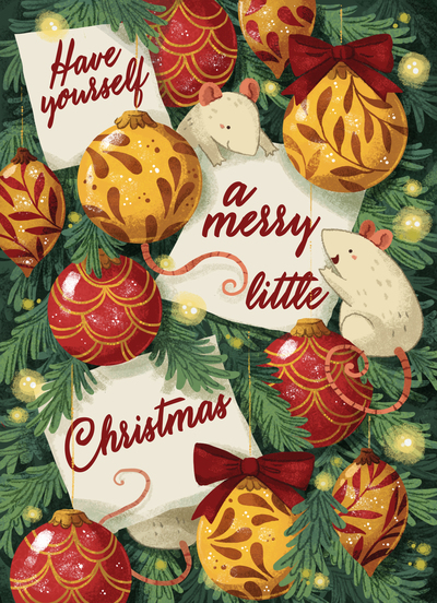 christmascard-mice-christmastree-gold-red-lights-pine-winter-jpg