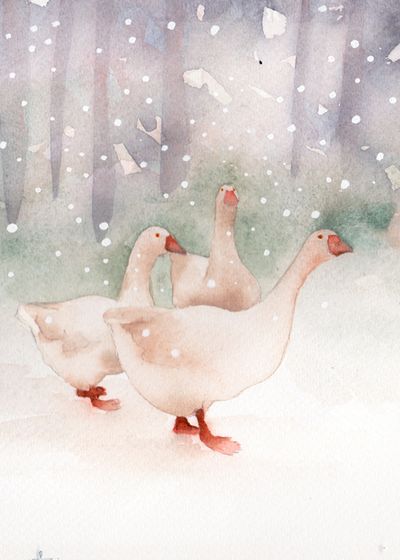 three-geese-forest-snow-small-jpg