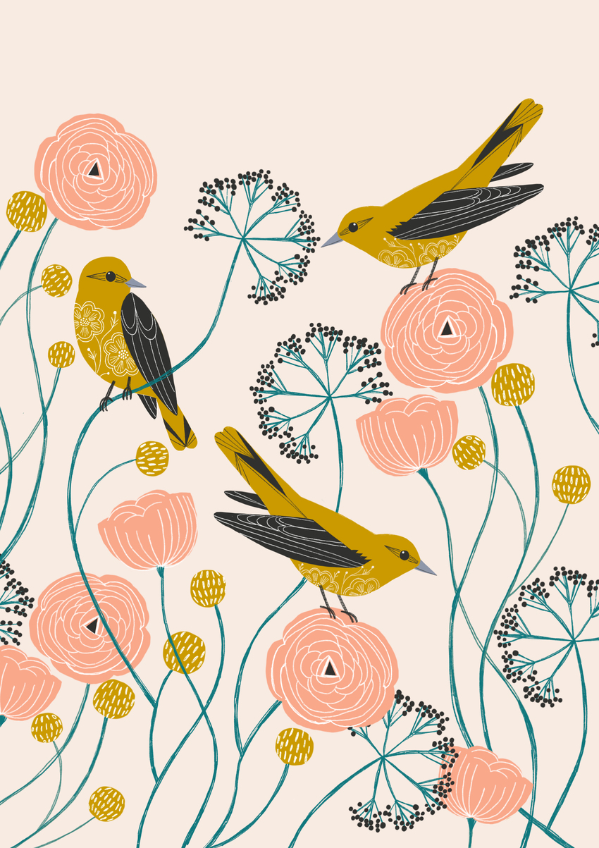 BethanJanine_GoldenOriole_Birds_Floral.jpg