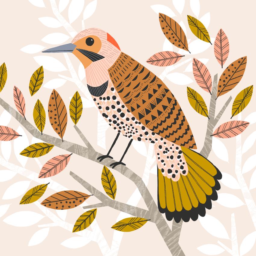 BethanJanine_NorthernFlicker_Bird_Leaves.jpg