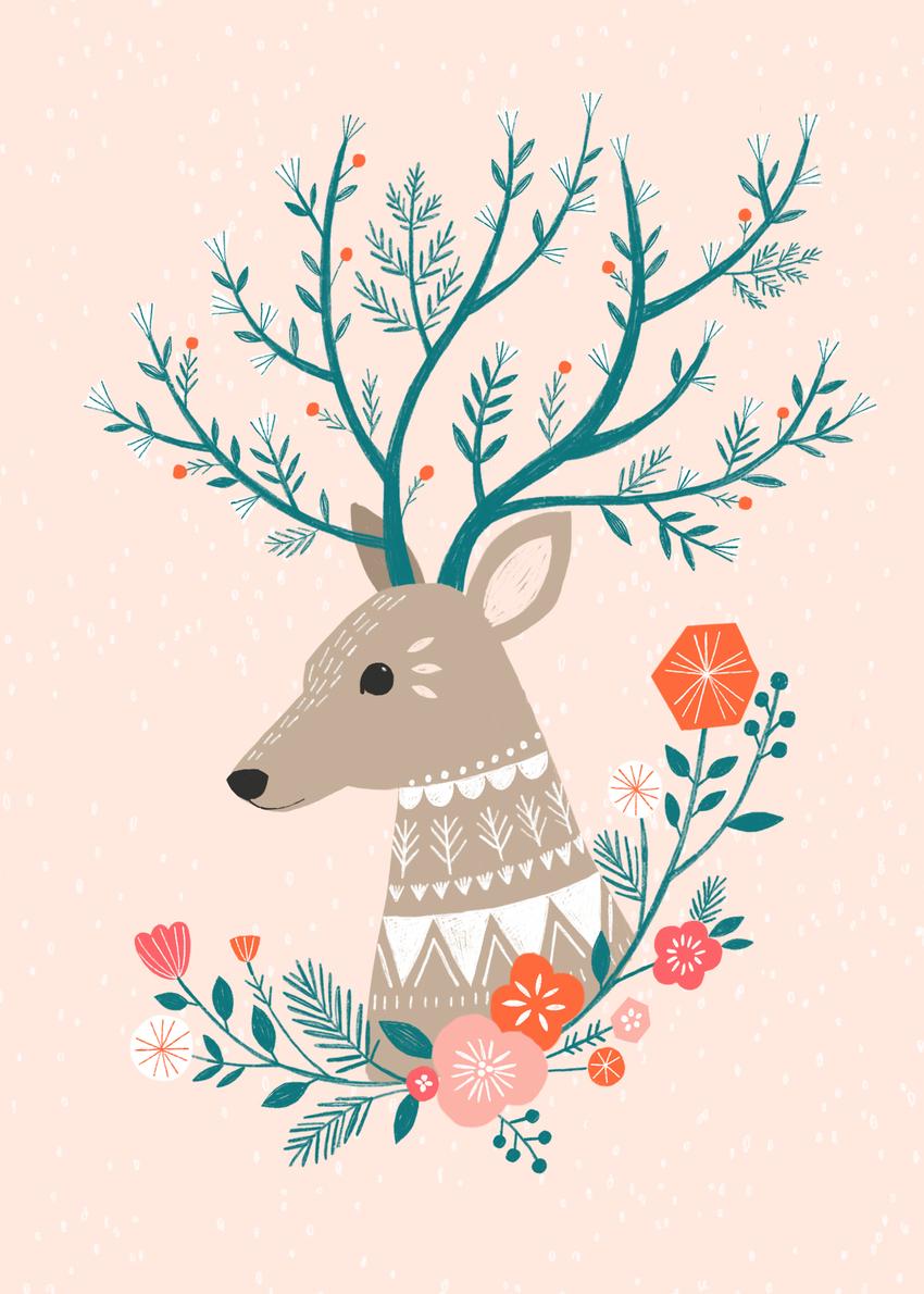 BethanJanine_Winter_Deer_Floral.jpg