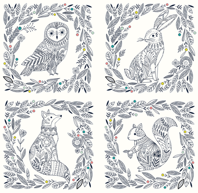bethanjanine-woodland-animals-fox-owl-hare-squirrel-jpg