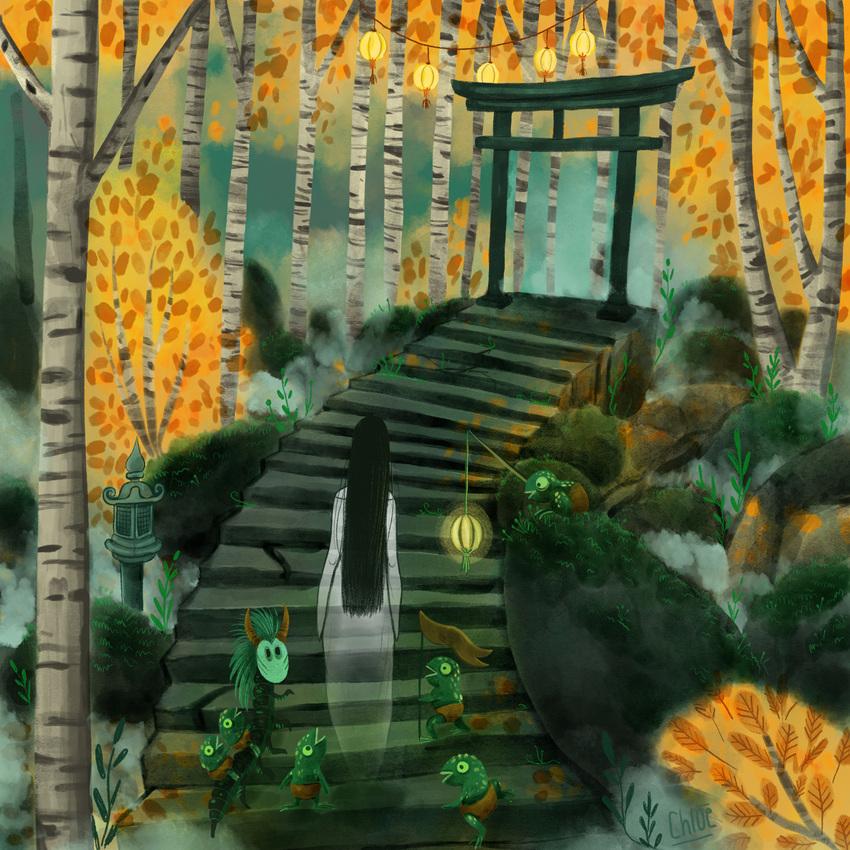 1-Folktales-Japan-yokai-ghost-temple-forest-autumn.jpg