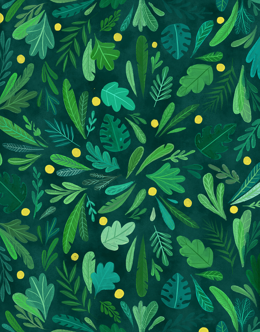 2-Pattern-leaves-green-yellow-dots.jpg