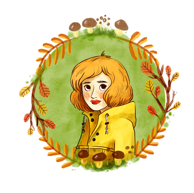 2017-seasons-autumn-girl-ginger-leaves-mushroom-raincoat-jpg