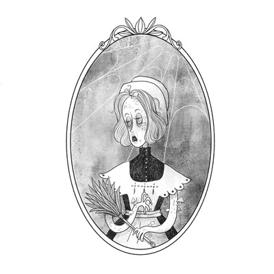 3-inktober2018-housemaid-mushroom-zombie-black-white-jpg