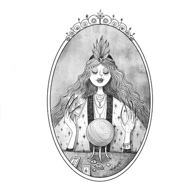 3-inktober2018-magic-gypsy-fortuneteller-woman-black-white-jpg