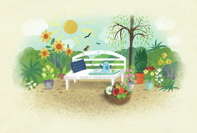 claire-mcelfatrick-gardening-scene-summer-floral-fruit-and-vegetables-jpg