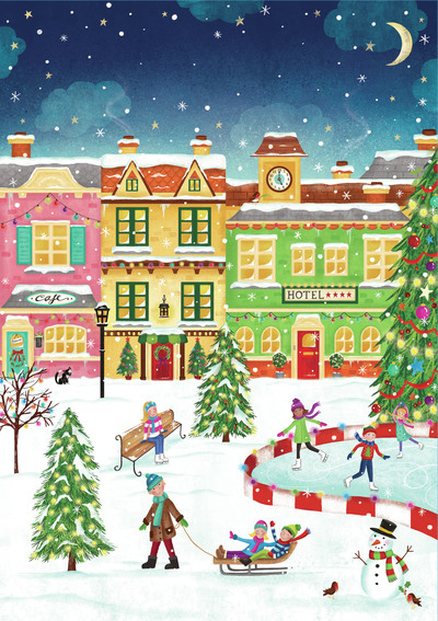 claire-mcelfatrick-christmas-market-town-ice-skating-scene-christmas-tree-jpg