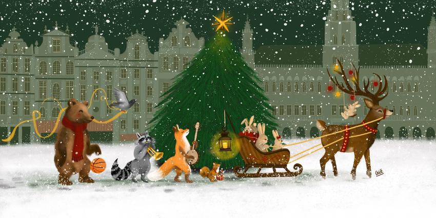1-Happynewyear2018-Bxl-Animals-christmas-music-tree.jpg