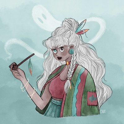 2018-drawthisinyourstyle-gril-smoke-whitehair-indian-jpg
