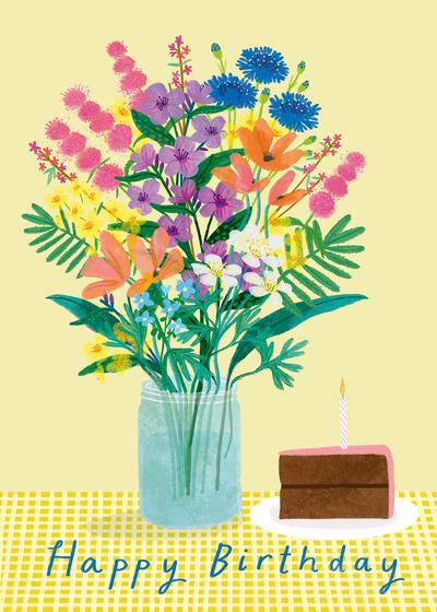 louisepigott-birthdayflowersgreetingbrightpainted-jpg