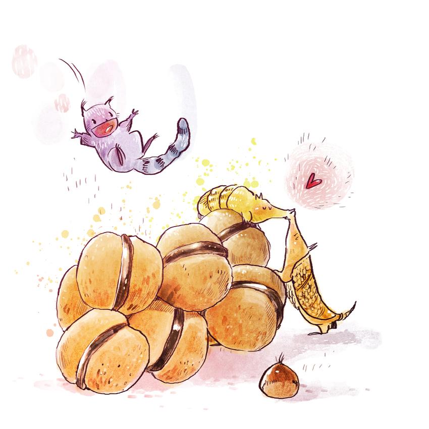 01_food_cute_animals_kitties_colorful_watercolor_biscuits_bacididama.jpg