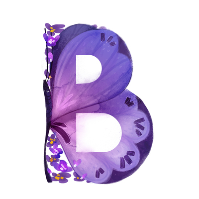 animal-alphabet-letter-b-butterfly-purple-capital-flowers-jpg