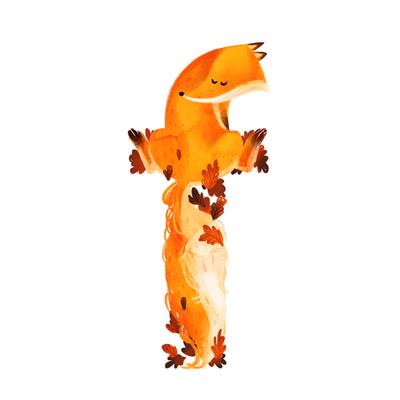 animal-alphabet-letter-f-baby-fox-autumn-leaves-jpg