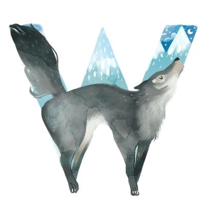 animal-alphabet-letter-w-wolf-capital-ice-mountains-jpg