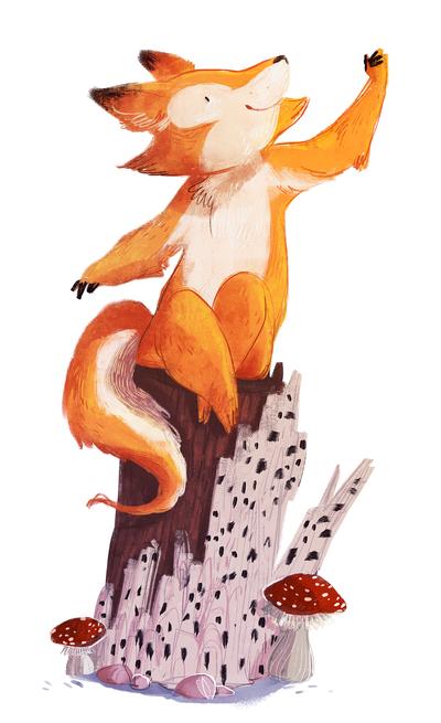 00-animal-wood-fox-trunk-mushrooms-jpg