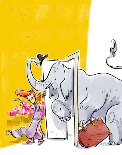 02-elephant-door-yellow-elegant-suitcase-lady-jpg