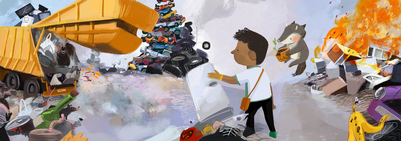 04-damp-tires-garbage-bulldozer-afro-kid-fox-fairy-pollustion-copy-jpg