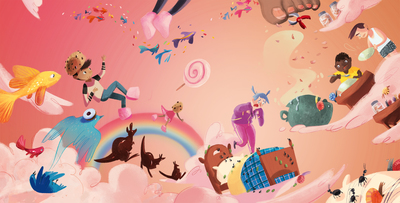 07-paradise-heaven-fantasy-fishes-bed-flying-rainbow-ants-cangaroo-kids-clouds-sunset-birds-jpg