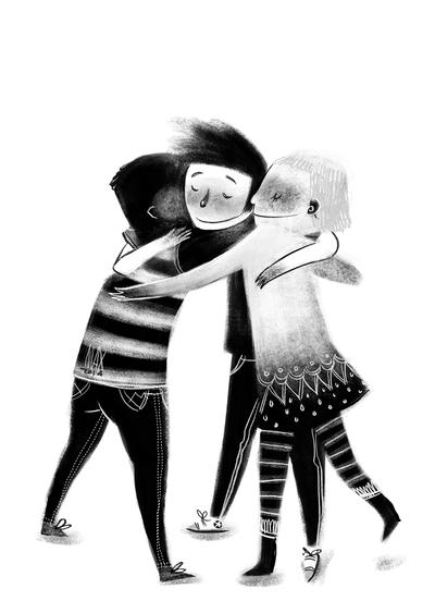 09-black-white-bw-geometrical-kids-friendship-hug-stripes-jpg