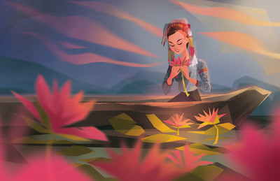 tboli-tribe-indigenous-girl-canoe-lilies-river-jpg