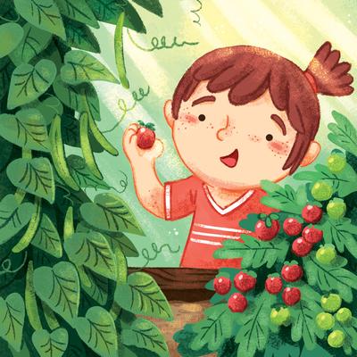 garden-girl-kid-tomatoes-beans-gardening-summer-jpg