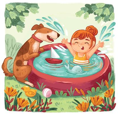 girl-dog-summer-pool-play-water-flowers-jpg