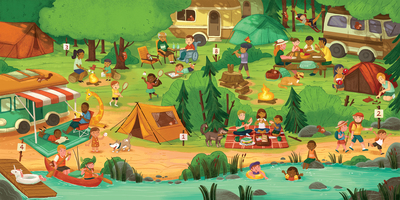 camping-spread-campers-fires-families-family-kids-parents-hiking-swimming-puzzle-beach-forest-river-animals-jpg