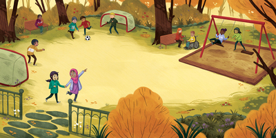 class-kids-recess-playtime-park-fall-multicultural-school-soccer-swings-trees-outdoors-outside-jpg