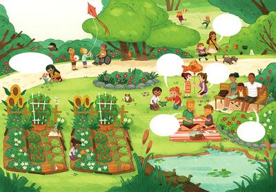 puzzle-park-playing-pond-animal-kids-boys-girls-parents-family-picnic-gardening-kite-catch-walking-jpg