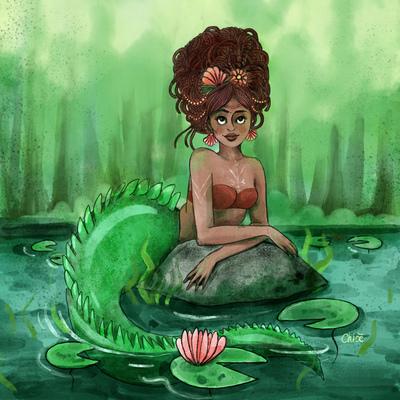 mermaid-girl-green-pond-waterlili-jpg