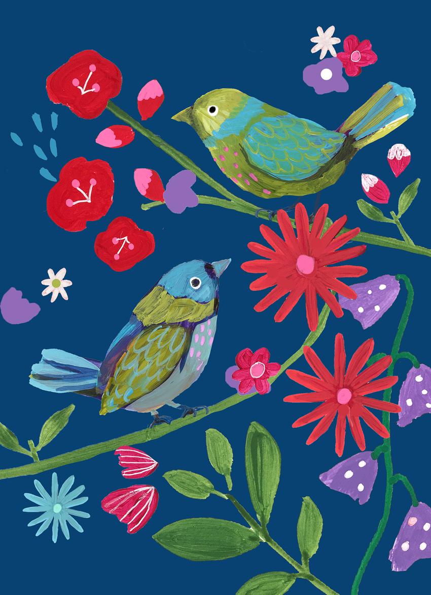 montgomery_bright_birds_flowers_branches_blue_Ground.jpg