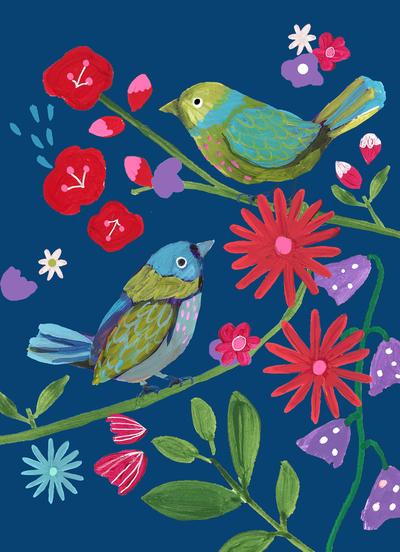 montgomery-bright-birds-flowers-branches-blue-ground-jpg