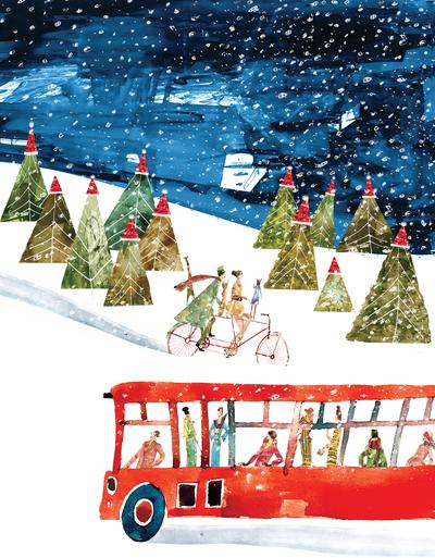 christmas-trees-bus-women-bicycle-jpg