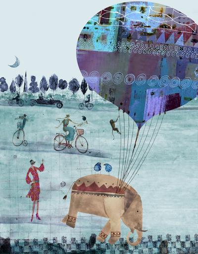 elephant-women-car-bicycle-jpg