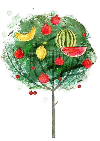 tree-melon-watermelon-pomegranate-jpg