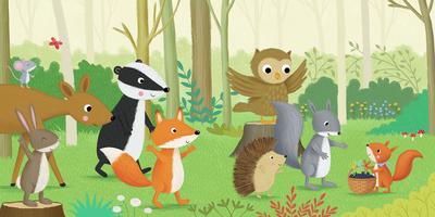 woodland-fox-squirrel-badger-rabbit-jpg