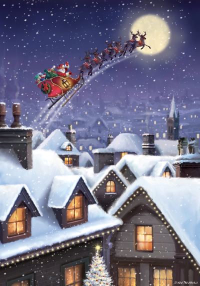 st854-santa-flying-over-village-jpg