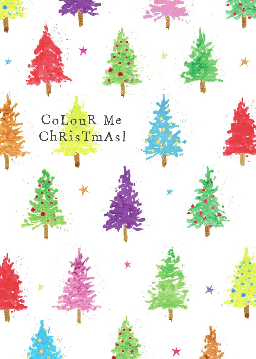 fun mini rainbow Christmas trees pattern watercolour.jpg
