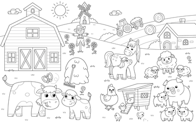 bk109788-lineart-coloring-farm-cow-pig-hen-horse-sheep-jpg