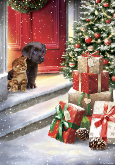 st855-puppy-kitten-outside-door-watching-at-presents-jpg